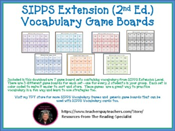 SIPPS Extension Sight Word Game Boards (2nd Ed.)
