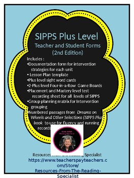 SIPPS Plus Teacher Forms and More