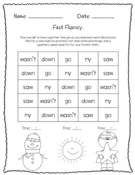 SIPPS Sight Word Seat Work *BUNDLE*; Beginning Lessons 21- 40