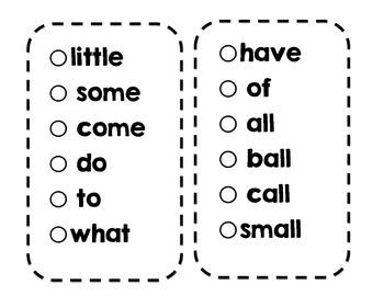 SIPPS Sight Word Sticker Book