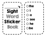 SIPPS Sight Word Sticker Book