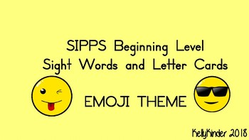 SIPPS Sight Word and Letter Cards:  Beginning Lessons 1-55, EMOJI THEME