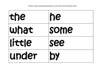SIPPS Sight Words Extension Level