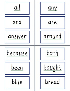 SIPPS Word Wall Cards