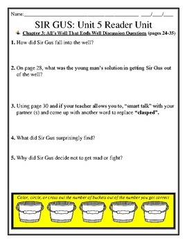 SIR GUS & THE WAR OF 1812! Skills Strand Units 5 & 6 Activity/Assessment Unit
