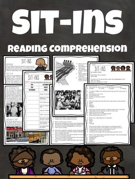Sit Ins Reading Comprehension and DBQ, Civil Rights Movement, Poetry