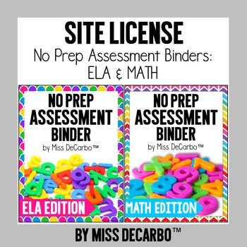 SITE LICENSE No Prep Assessment Bundle Math and ELA Edition