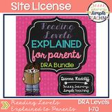 SITE LICENSE Reading Levels Explained for Parents BUNDLE [