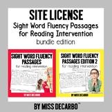 SITE LICENSE Sight Word Fluency Passages Bundle