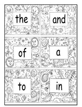 SITE WORDS  100 Site Words  Word Wall  Flash Cards  Coloring Activity