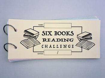 SIX BOOK READING CHALLENGE Reading Log