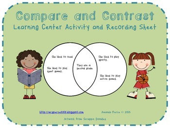 Compare and Contrast Center Activities (6 SETS)