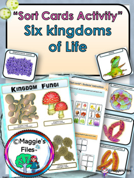 SIX KINGDOMS- SORT CARDS ACTIVITY