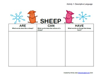 SIX SNOWY SHEEP Book Companion Activities