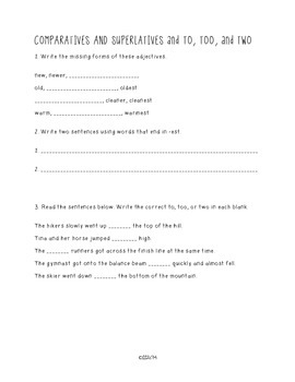 SIX TRAITS OF WRITING ASSESSMENT SIX (conventions-grade 3)