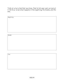 SIX TRAITS OF WRITING ASSESSMENT TWO - grade 3 (Organization)