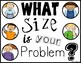 SIZE OF THE PROBLEM POSTERS FOR INTERMEDIATE GRADES