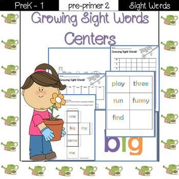 Sight Word Centers- Pre-Primer 2