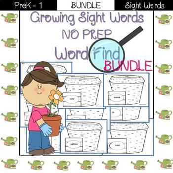 Sight Word Find-Pre-Primer BUNDLE!