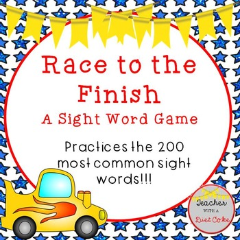 Sight Word Game- Race to the Finish