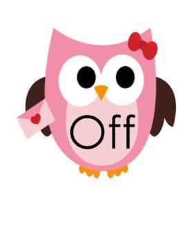 Sight Word Owls