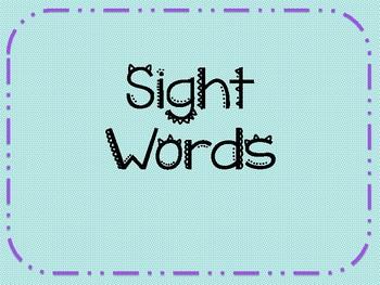 SIght Word Powerpoint!