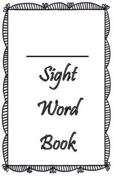 Kindergarten Take Home Sight Word Practice Book
