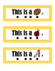 Reading Cards - Sight Words