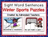 Sight Word Sentences Winter Sports Puzzles