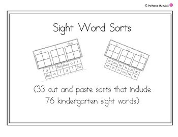SIght Word Sorts