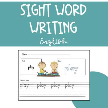 Sight Word Writing English