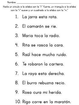 """SIlabas con la letra """"r"""" y la """"rr"""" #2"""
