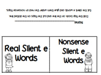 Silent E Sorts