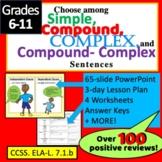 Types of Sentences : Simple, Complex, Compound and CC Sentence Structure