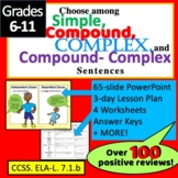 Types of Sentences : Simple, Complex, Compound and CC Sent