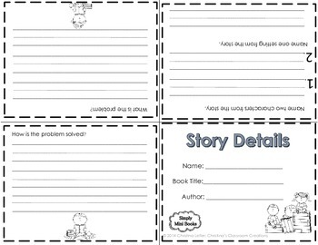 Reading Response to Literature Activities (K-1): Simply Mini Books