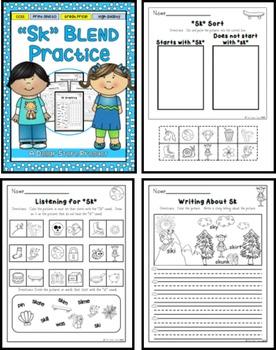 SK Blend Practice Printables Pack