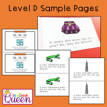 SK- Blend Readers Levels A and D (Printable Books and eBooks)