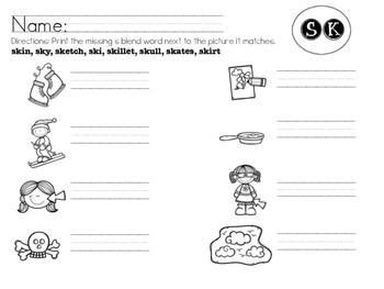 SK Blend Worksheet Packet