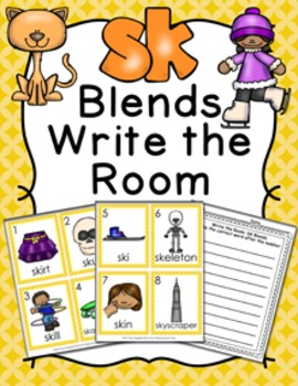 SK Blends Write the Room Activity