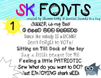 SK Fonts {Volume 1}