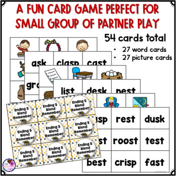 Ending Blends Memory Game With SK, SP, ST
