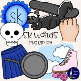 SK Words Clip Art