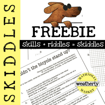 SKIDDLES - Writing Exponential Equations in One Variable
