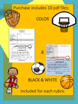 Physical Education SKILL CUE RUBRICS (SET OF 5)