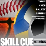 PE Physical Education SKILL CUE RUBRICS (SET OF 5)