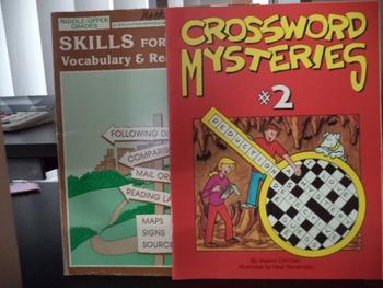 SKILLS FOR LIFE   CROSSWORD MYSTERIES   (set of 2)
