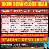 SKIM SCAN CLOSE READ TASK CARDS