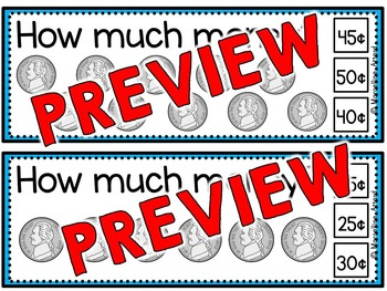 MONEY MATH CENTER SKIP COUNTING CLIP CARDS (COUNTING COINS) COUNTING BY 5S & 10S
