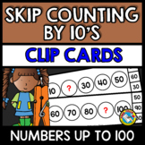 SKIP COUNTING ACTIVITIES (COUNT BY 10S CENTER) NUMBERS TO 100 GAMES